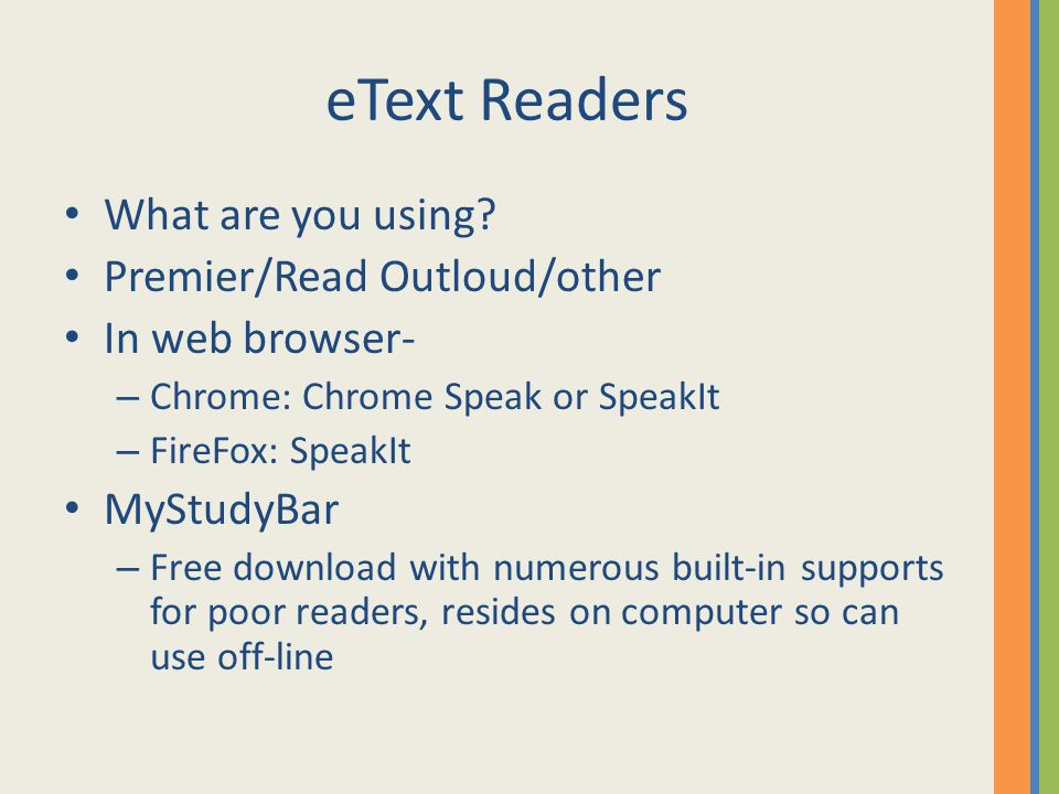 eText Readers What are you using.