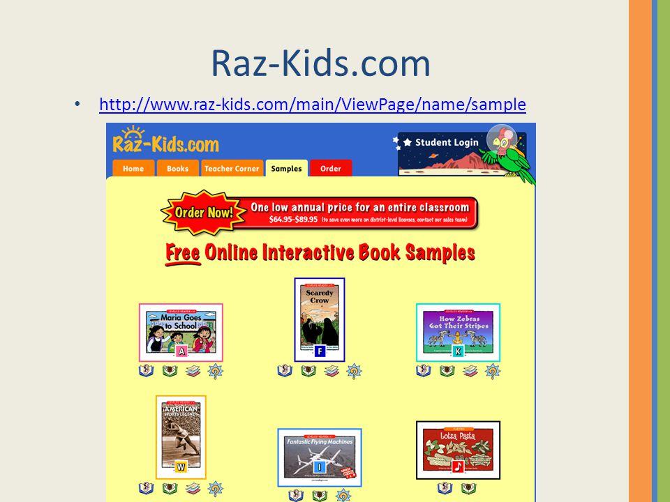 Raz-Kids.com http://www.raz-kids.com/main/ViewPage/name/sample