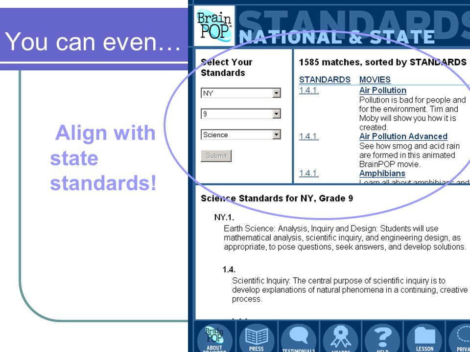You can even… Align with state standards!