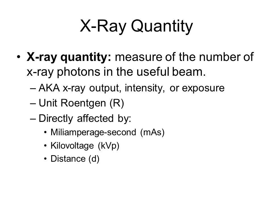 X-ray quality X-ray quality: measurement of the penetrating ability of the x-ray beam.