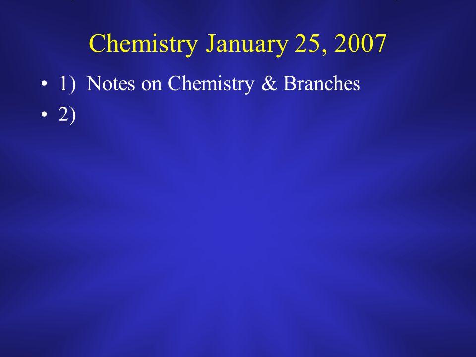 CP Chemistry Spring 2007