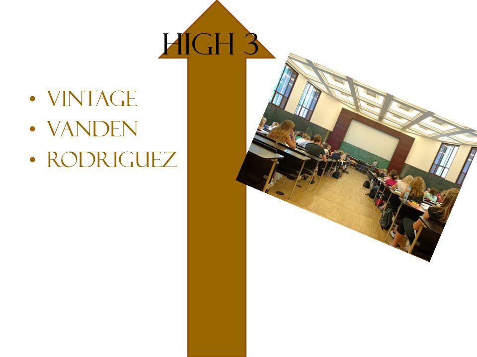 High 3 Vintage Vanden Rodriguez