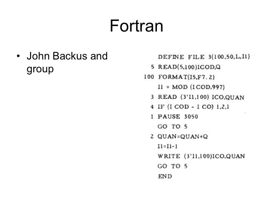 Fortran John Backus and group