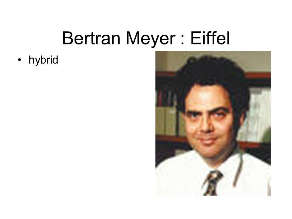 Bertran Meyer : Eiffel hybrid