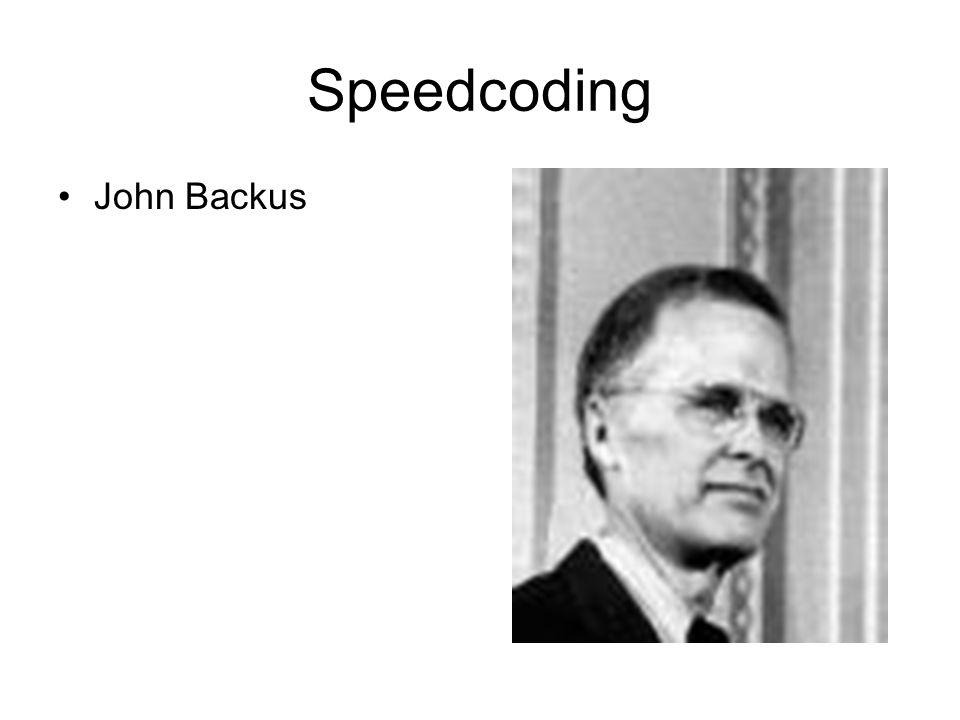 Speedcoding John Backus