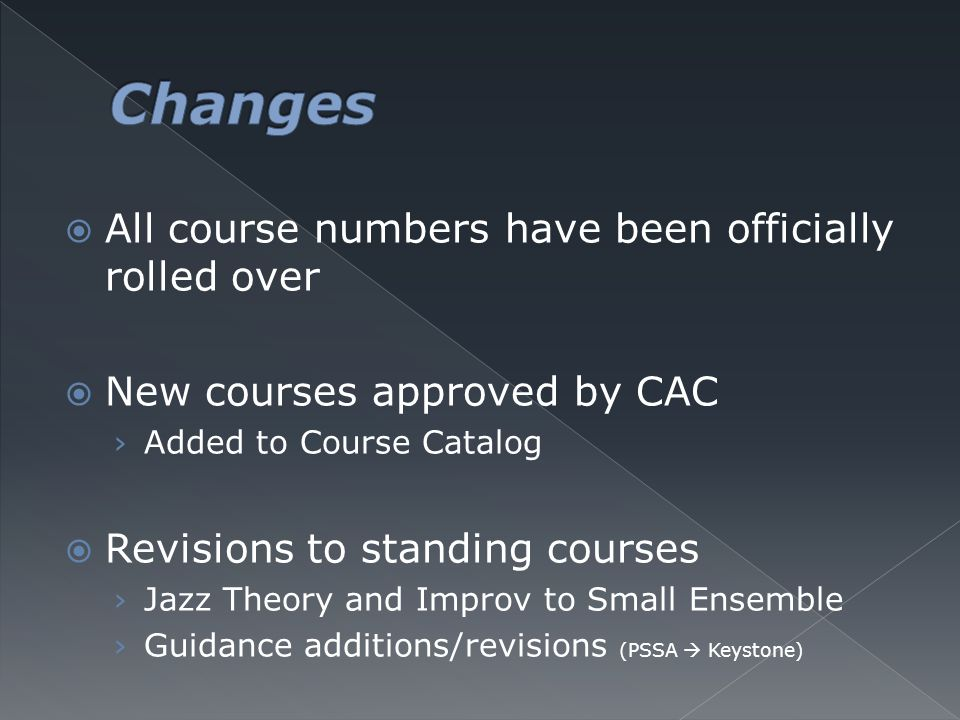  New courses proposed at CAC 1. Microsoft Applications I (MS Word & MS Excel) 2. MS Applications II (MS PowerPoint & MS Publisher) 3. Computer Progra