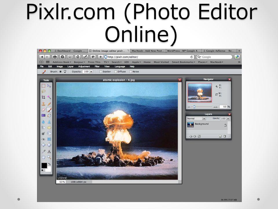 Pixlr.com (Photo Editor Online)