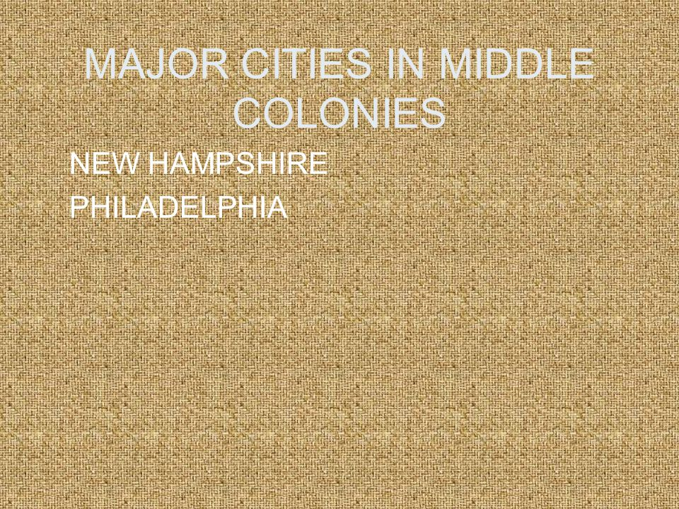 NAME OF COLONIES There are all types of settlers Pennsylvania NEW Hampshire DELAWARE There are all types of settlers New Jersey