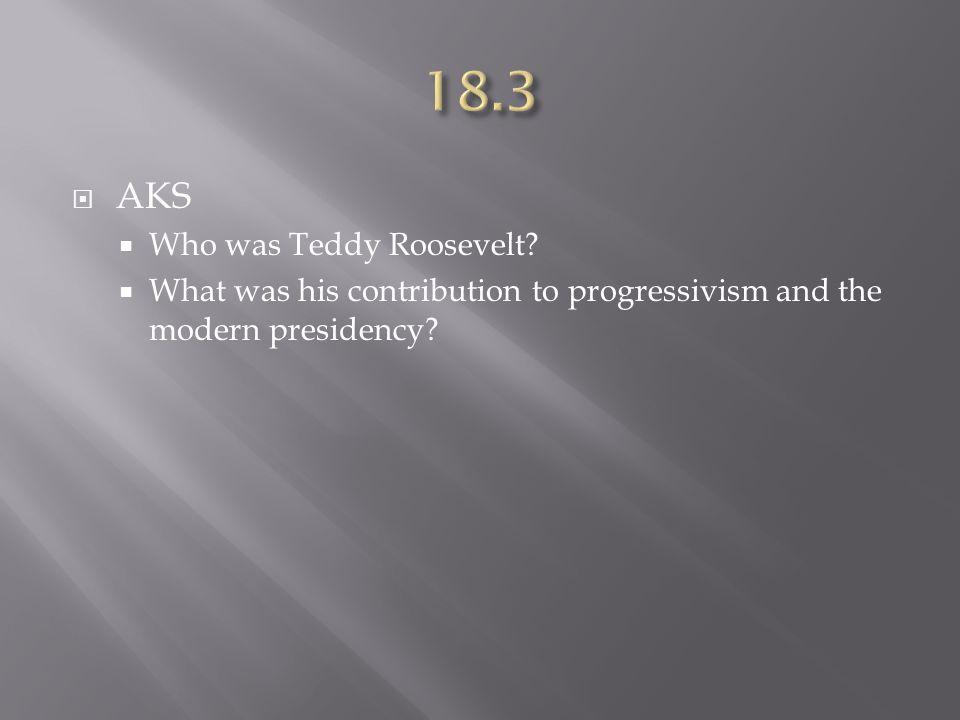  AKS  Who was Teddy Roosevelt.