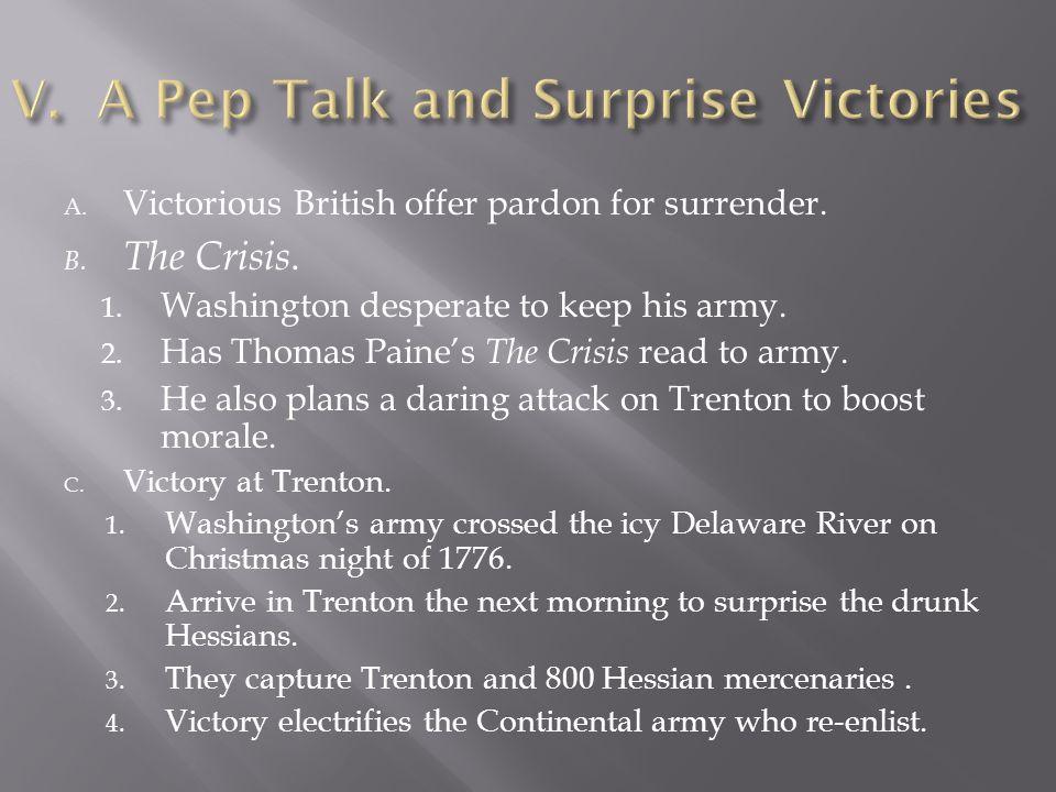A.. B. The Crisis. 1.. 2.. 3.. C. Victory at Trenton. 1.. 2.. 3.. 4..