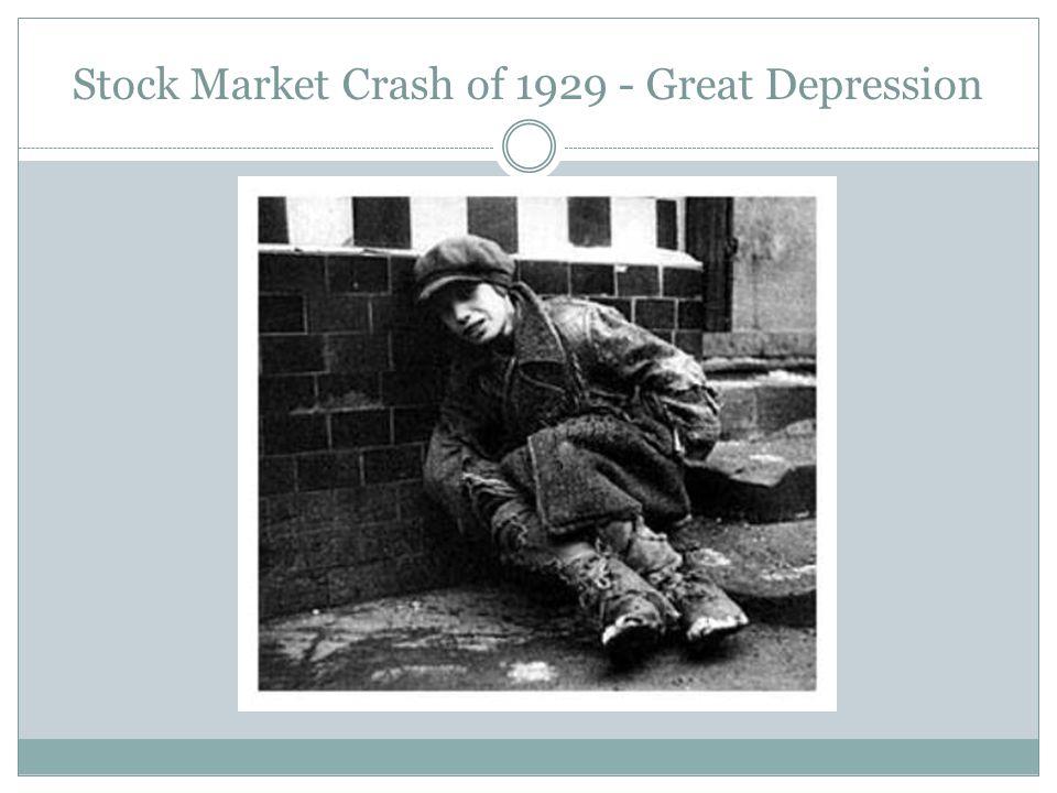 Stock Market Crash of 1929 - Great Depression