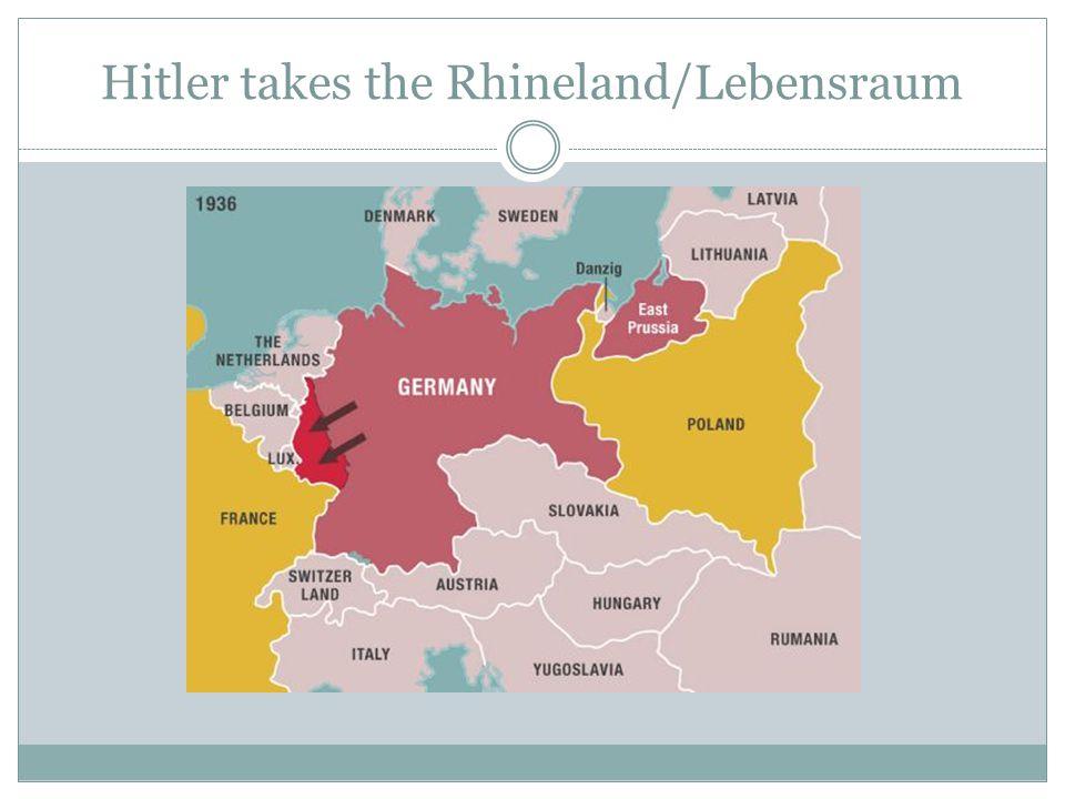 Hitler takes the Rhineland/Lebensraum