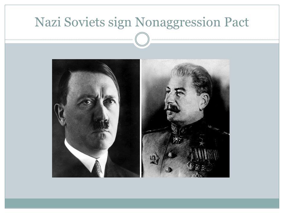 Nazi Soviets sign Nonaggression Pact