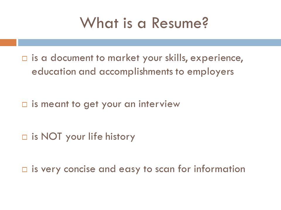 What is a Curriculum Vitae (CV).