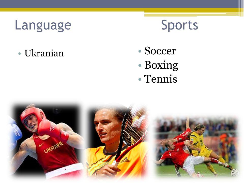 LanguageSports Ukranian Soccer Boxing Tennis