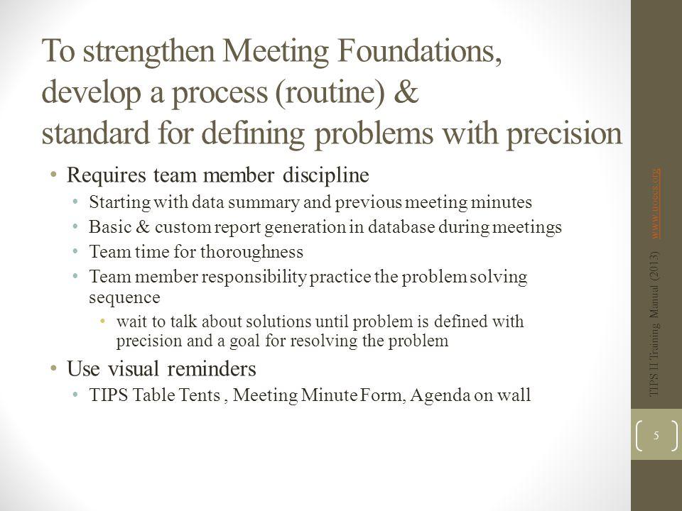 TIPS II Training Manual (2013) www.uoecs.org 126