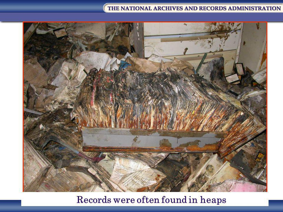 Records were often found in heaps
