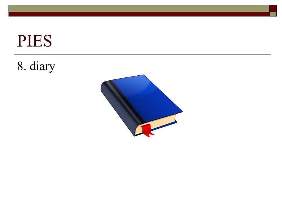 PIES 8. diary