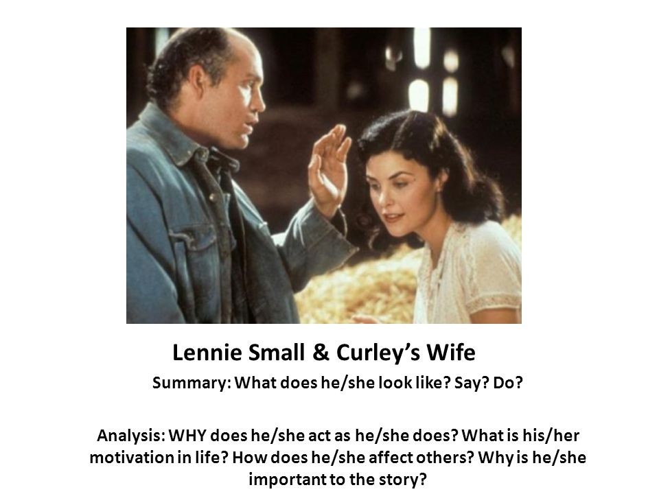 Friendship Summary: George and Lennie are friends. Analysis: The friendship of George and Lennie shows that in a world full of self-interested, selfish people, good people still exist. (tell WHY friendship is important)