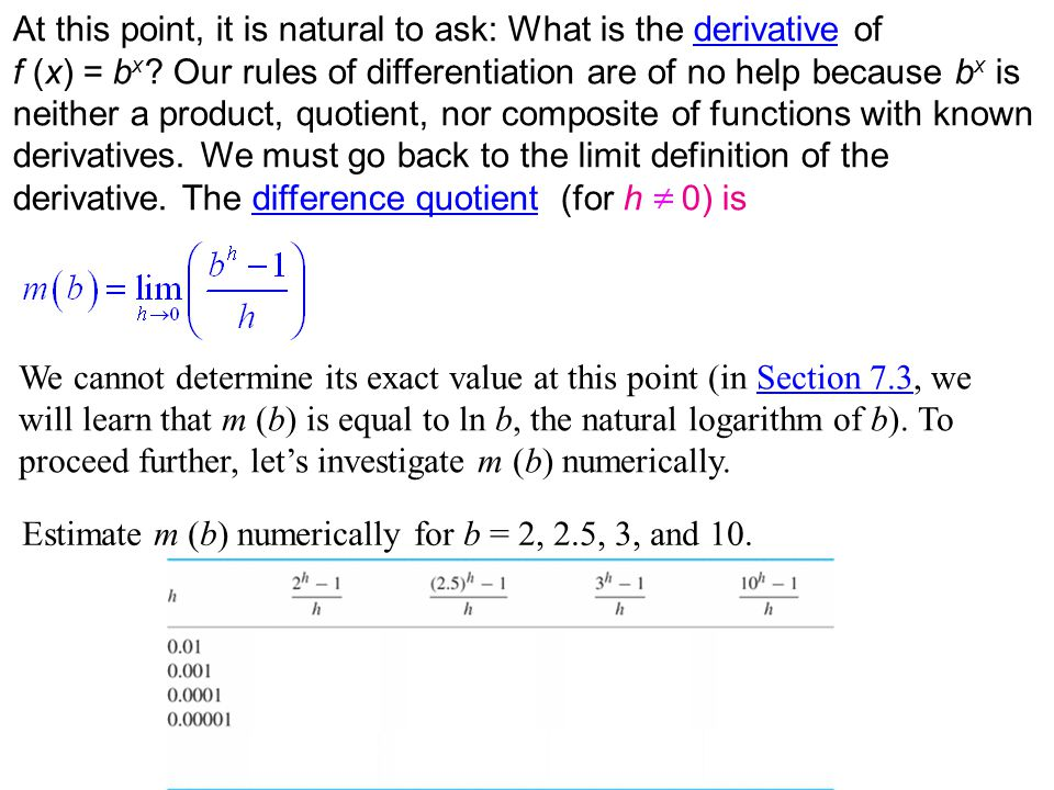 These computations suggest that m (b) is an increasing function of b.