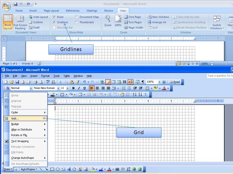 Grid Gridlines