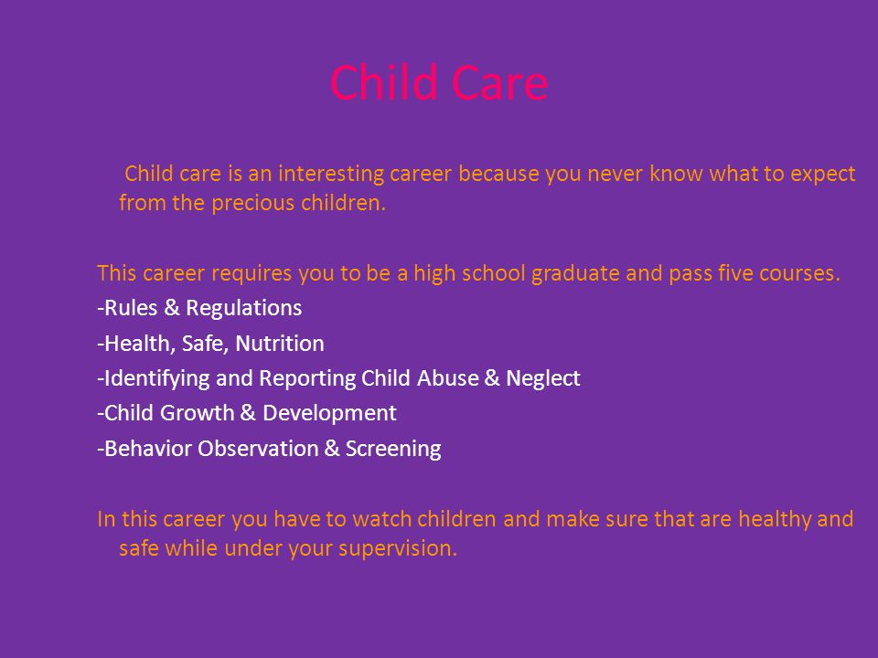 Child Care Josie B 4/20