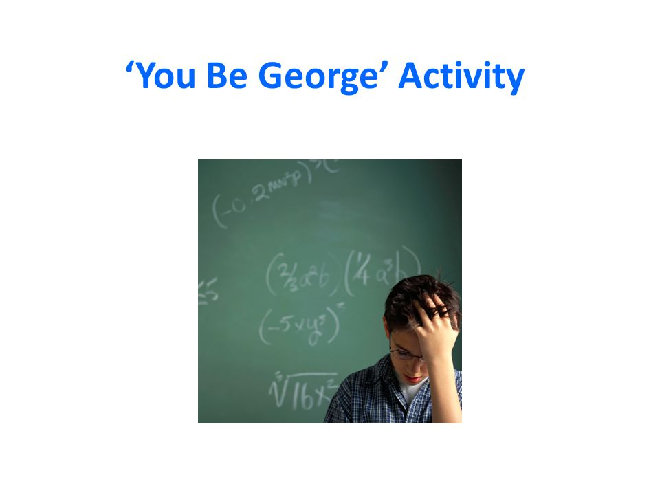 'You Be George' Activity