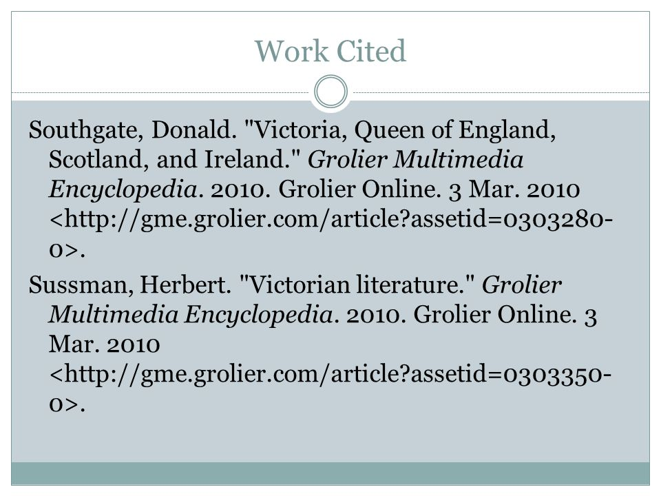 Work Cited Southgate, Donald.