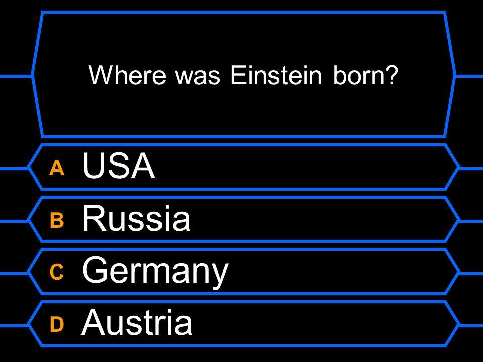Where was Einstein born?