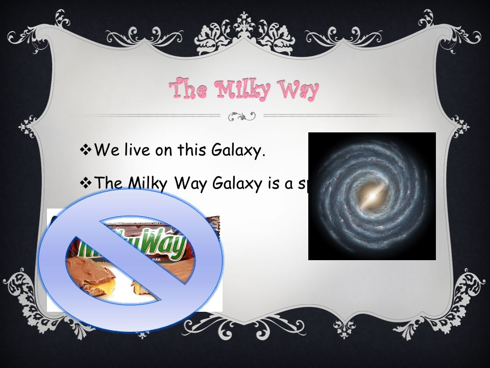  We live on this Galaxy.  The Milky Way Galaxy is a spiral galaxy.