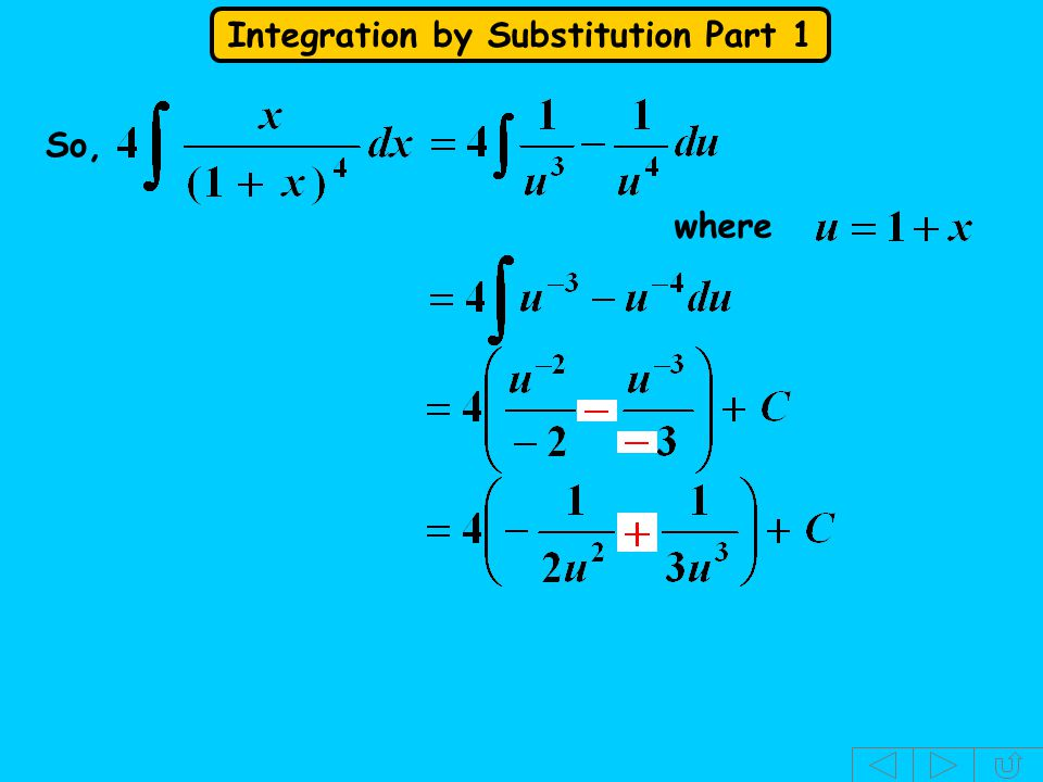 Integration by Substitution Part 1 So, where