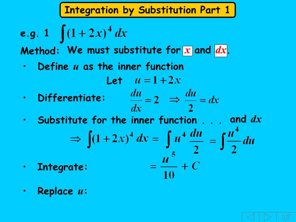 Integration by Substitution Part 1 Another product.