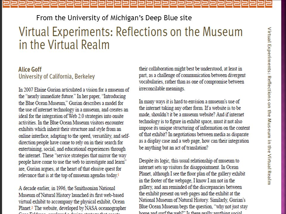 From the University of Michigan's Deep Blue site