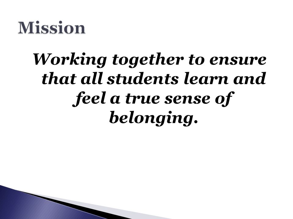 To what extent does our mission directly influence our curriculum?…instruction.