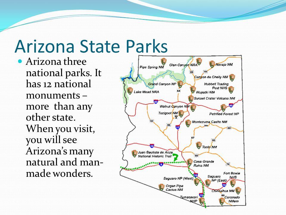 Arizona State Parks Arizona three national parks.
