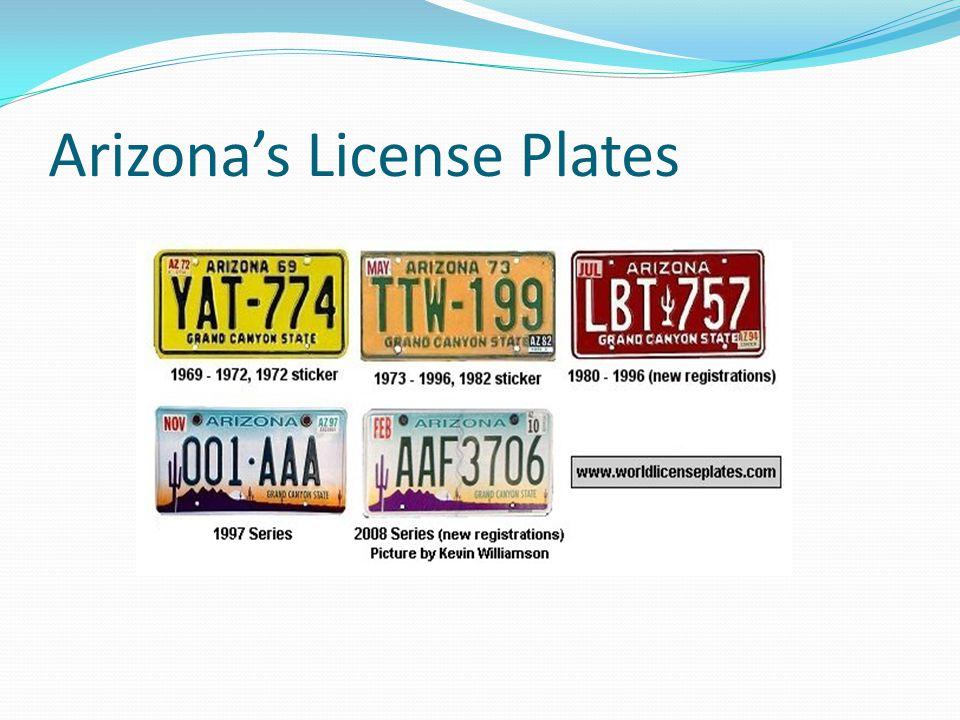 Arizona's License Plates