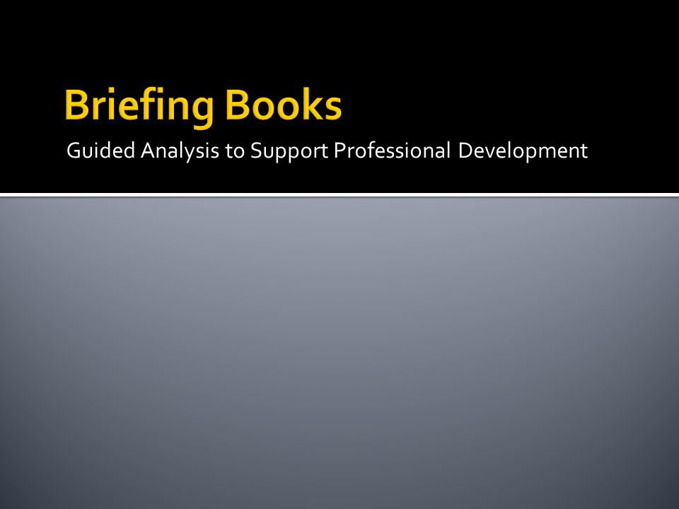 Guided Analysis to Support Professional Development