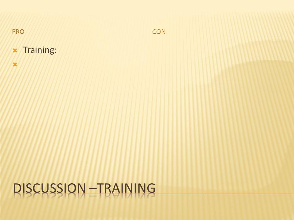 PROCON  Training: 