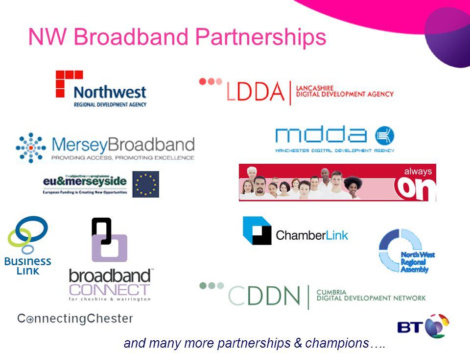 NW Broadband Partnerships and many more partnerships & champions….