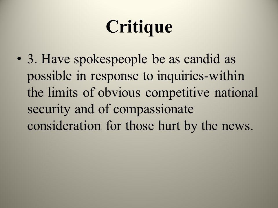 Critique 3.