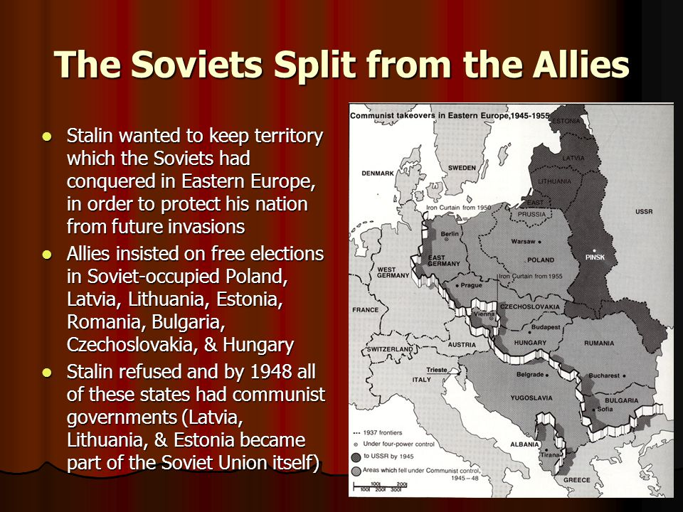 The Warsaw Pact May 14, 1955: Soviets responded to NATO by creating an alliance of communist states Unlike NATO, which was an alliance of free nations, Warsaw Pact members were given no choice but to join by the Soviets Officially disbanded July 1, 1991 after the collapse of Soviet power