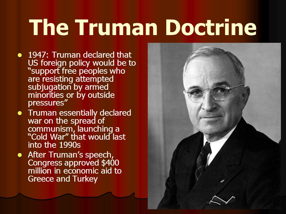 The Marshall Plan In support of the Truman Doctrine, Sec.
