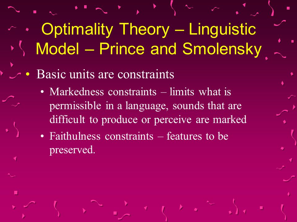 Sonority Hypothesis – Linguistic Model – Refers to the relative loudness of a sound relative to other sounds with same pitch, stress, and length.
