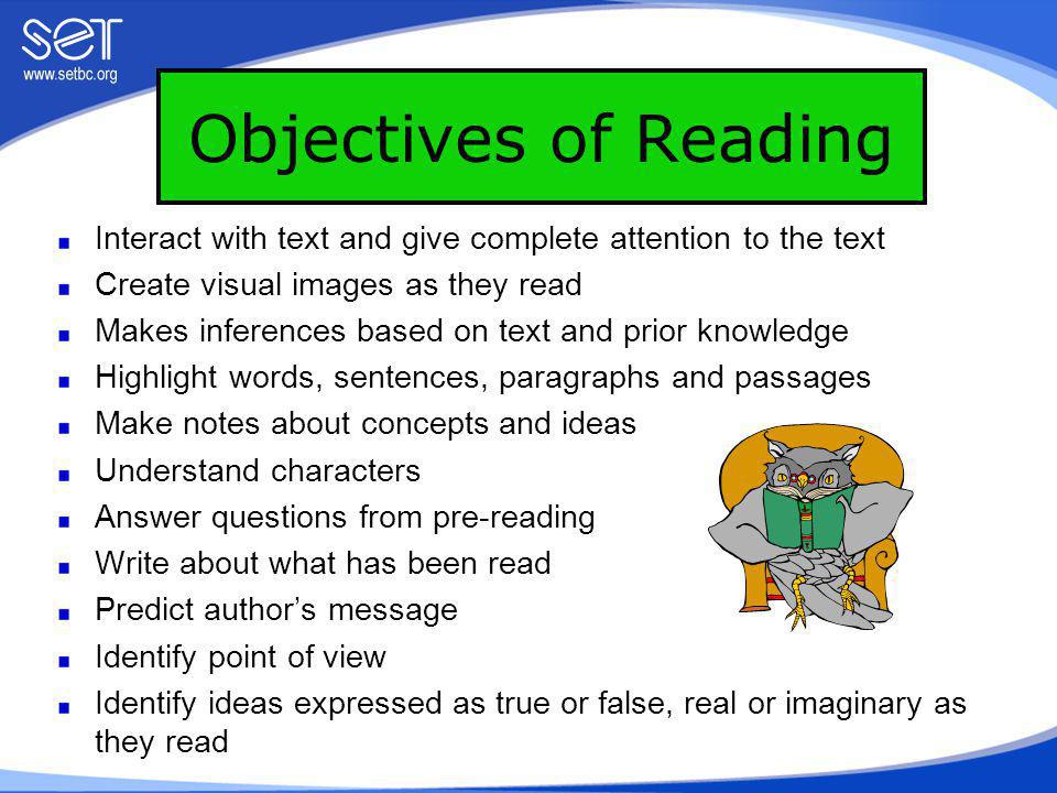 Activity 1: Reading Log/Journal Students write a free response (questions, thoughts, ideas, personal experiences etc.) about what they have read.
