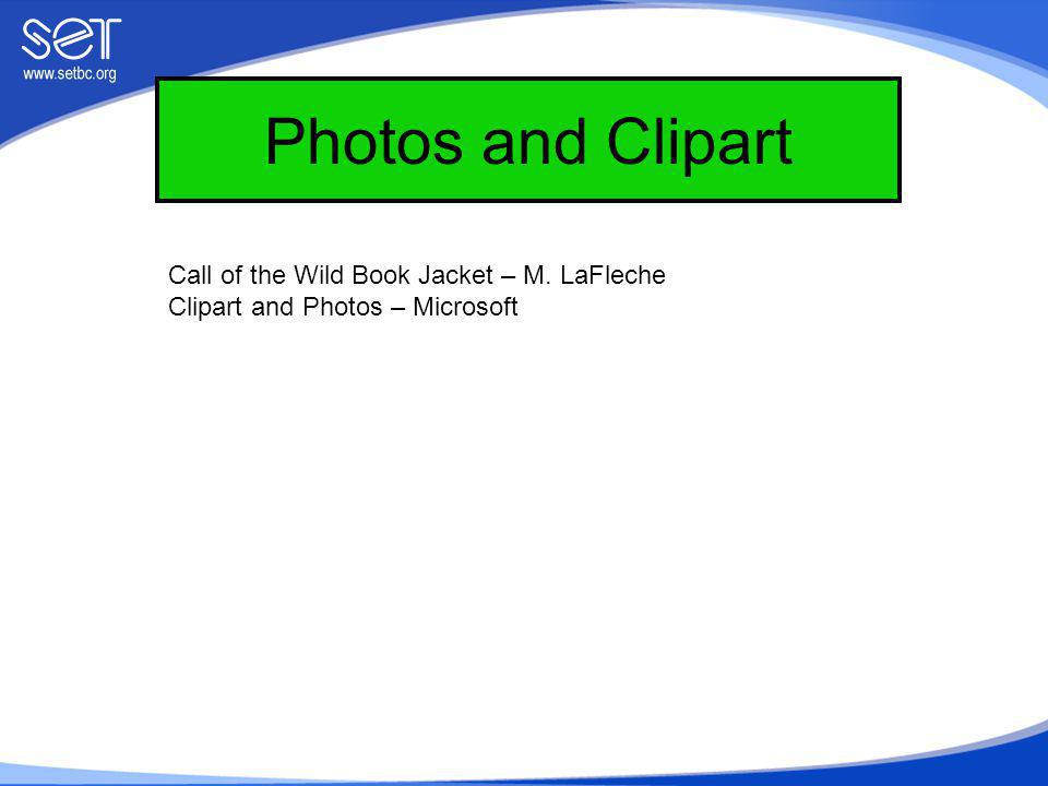 Photos and Clipart Call of the Wild Book Jacket – M. LaFleche Clipart and Photos – Microsoft