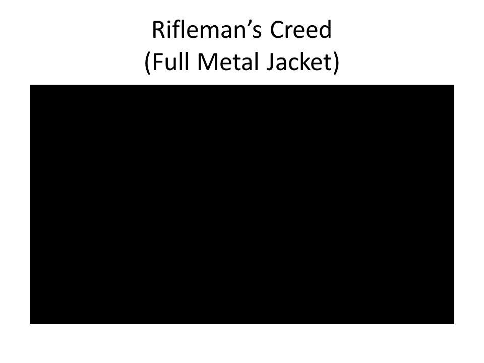 Rifleman's Creed (Full Metal Jacket)