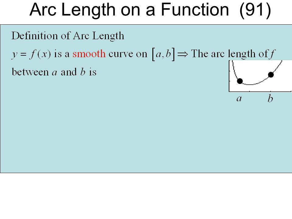 Arc Length on a Function (91)