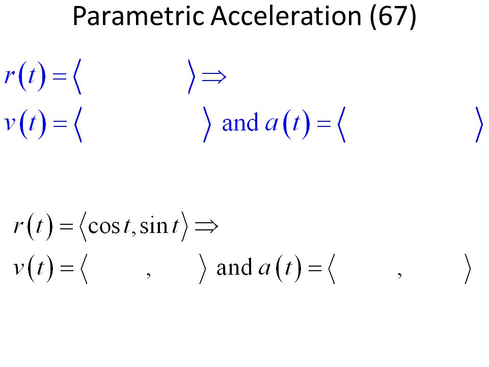 Parametric Acceleration (67)