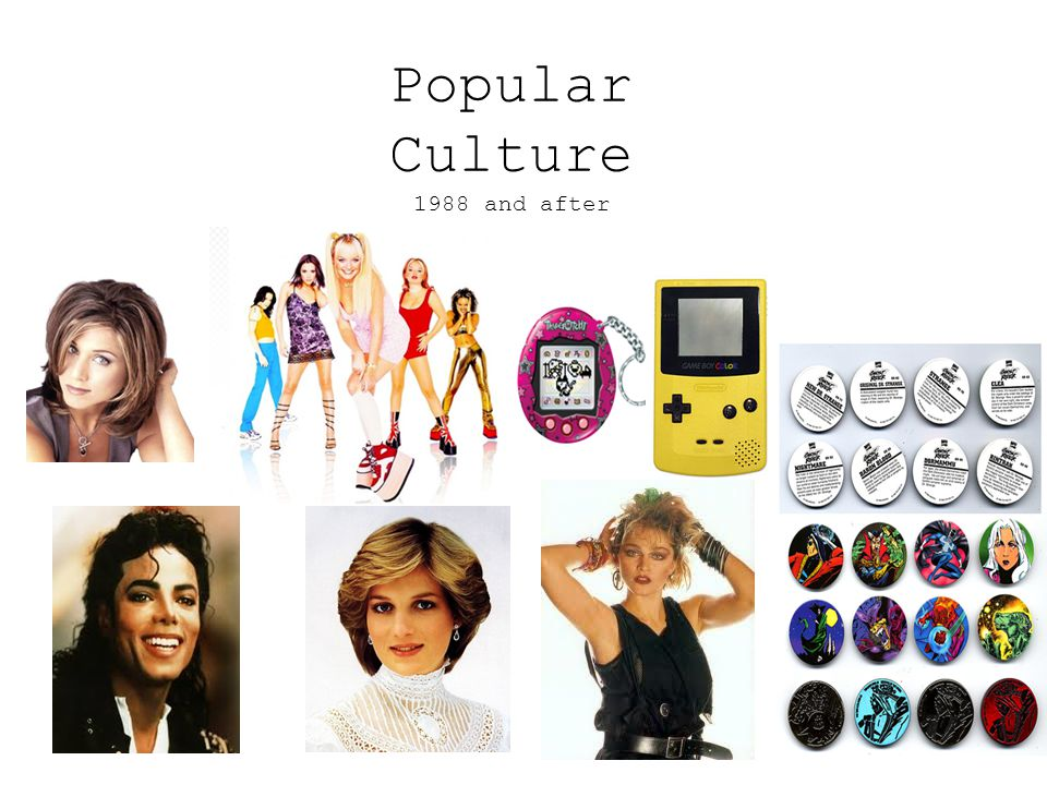 Popular Culture 1988 and after