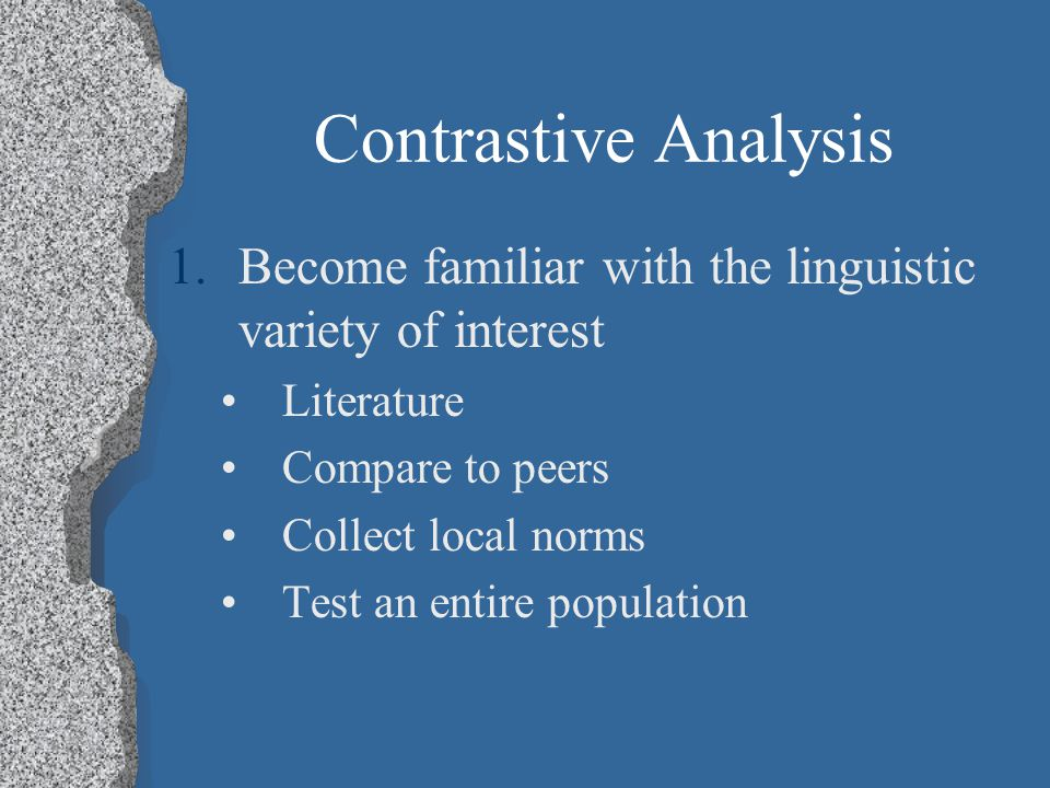 African American English – Assessment Contrastive Analysis - McGregor Minimal Competency Core (MCC) - Stockman